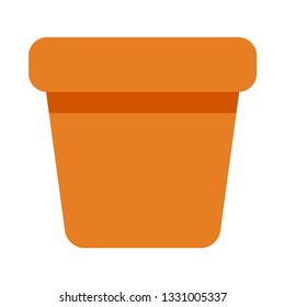 Flowerpot flat icon.You can be used flowerpot icon for several purposes like: websites, UI, UX, print templates, presentation templates, promotional materials, web and mobile phone apps