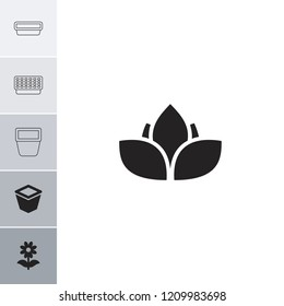 Flowerpot icon. collection of 6 flowerpot filled and outline icons such as pot for plants. editable flowerpot icons for web and mobile.