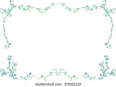 flowers with border / frame