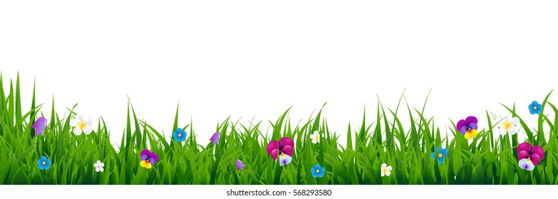 Spring Flower Border Images Stock Photos Vectors Shutterstock