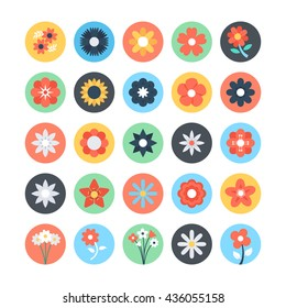 Flowers Colored Vector Icons 3