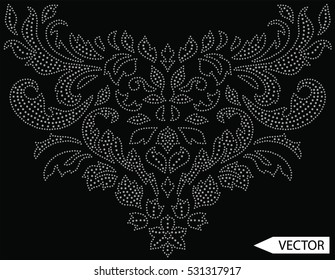 flowers  and ethnic embellishment hot fix stud stone designs