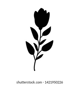 flowers, flower silhouettes, creative logos, black