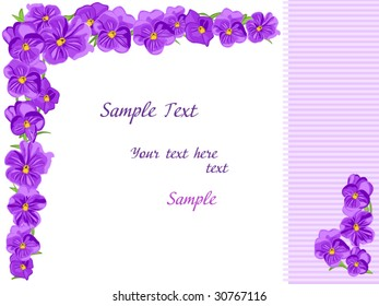 flowers frame purple