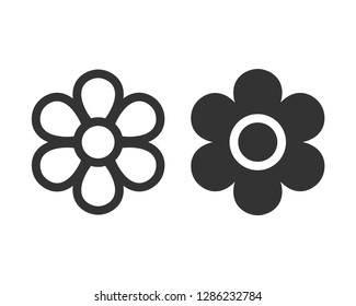 flowers icon vector lines and filled