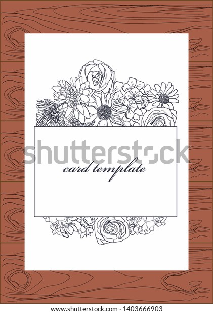 Stupendous Flowers Invitation Card On White Background Stock Vector Royalty Personalised Birthday Cards Paralily Jamesorg