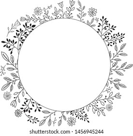 Flowers and leaf elements set