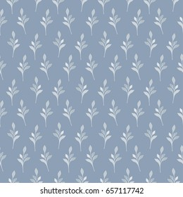 Flowers and leaves pattern. Seamless floral background for cute trendy design textiles, wrapping, paper, wallpaper.