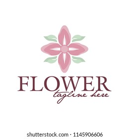 Flowers logo vector