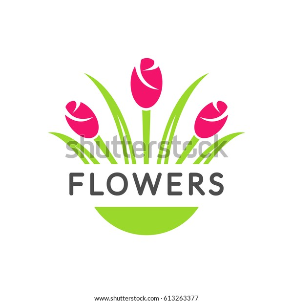 Flowers Logo Vector Flower Sign Florist Stock Vector
