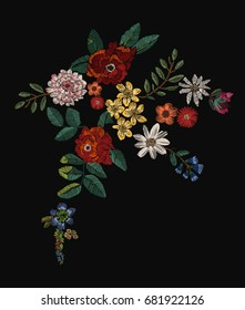 flowers patch embroidery  2