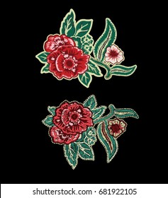 flowers patch embroidery  3