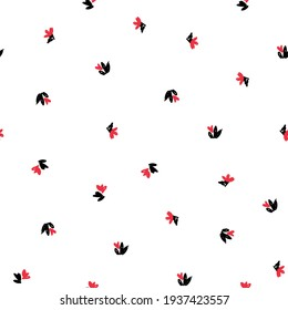 Flowers Pattern Seamless, background, ornament vector, hand drawn floral pattern.