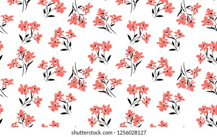flowers pattern for seamless printing