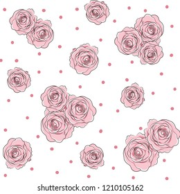 flowers rose pattern design