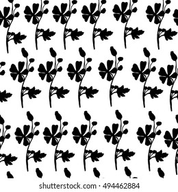 Flowers. Seamless pattern in vector.