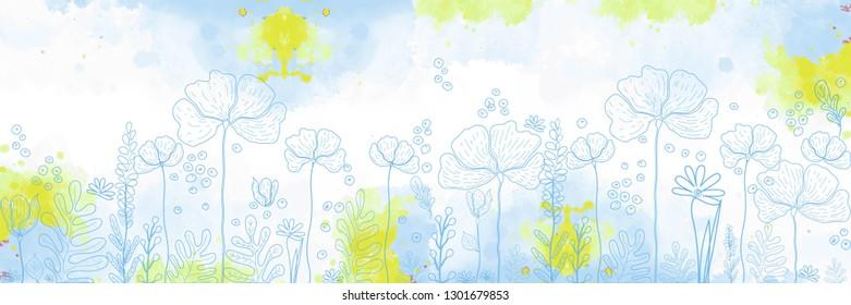 flowers, skinali, vector