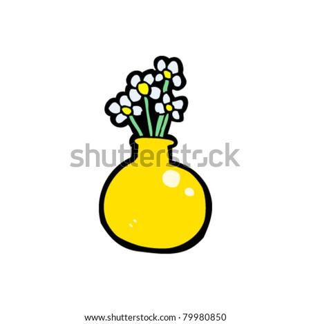 Flowers Vase Cartoon Stock Vector Royalty Free 79980850 Shutterstock