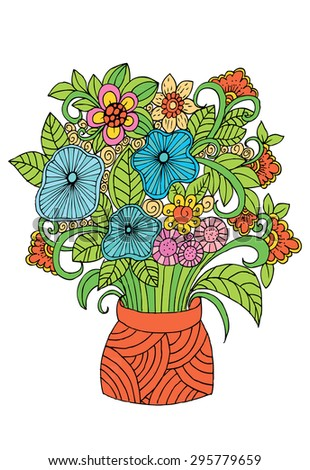 Flowers Vase Doodle Floral Pencil Drawing Stock Vector (Royalty Free on wreath of flowers drawing, basket of flowers drawing, pensive girl drawing, loaves and fishes drawing, flower pot drawing, vase with flowers, girl with flowers drawing, frame of flowers drawing, house of flowers drawing, shrove tuesday drawing, abstract drawing, simple vase drawing, tree drawing, ring of flowers drawing, aster flower drawing, pink flower in vase drawing, bouquet of flowers drawing, bed of flowers drawing, vase sketch drawing, cat drawing,