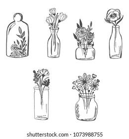 Flower Vase Sketch Images Stock Photos Vectors Shutterstock