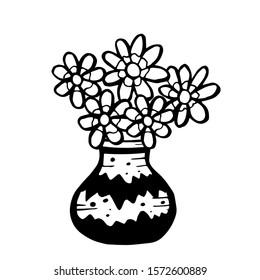 flowers vase isolated on white 260nw