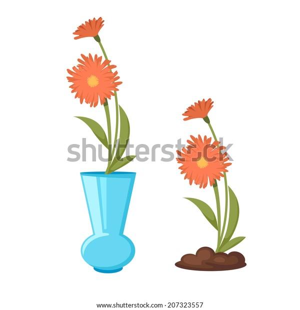 Flowers Vase Vector Stock Vector (Royalty Free) 207323557 on books vector, basket vector, art vector, box vector, decor vector, candle vector, animals vector, roses vector, floral vector, pottery vector, mirror vector, beer mug vector, teapot vector,