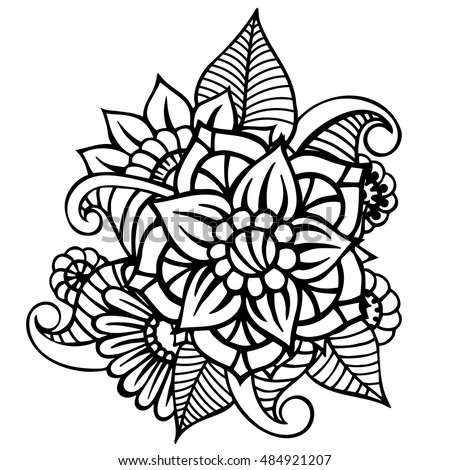 flowers vector flowers doodle flowers zentangle stock vector