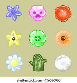 Flowers - vector icons