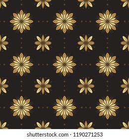 Flowers vector seamless pattern