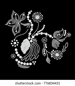 flowery embroidery design.for women's wear