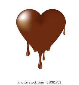 flowing chocolate hearts