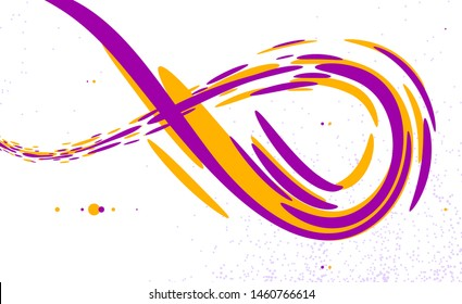 Flowing fluid 3D dimensional abstract vector shape, dynamic design element background, energy flowing in perspective, science or technology theme.