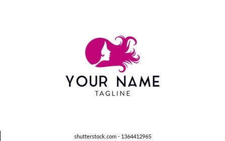 Flowing hair logo