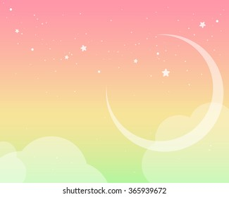Fluffy pastel colored sky