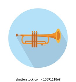 flugelhorn musical instrument flat icon, vector sign, colorful pictogram isolated on white. Symbol, logo illustration. Flat style design
