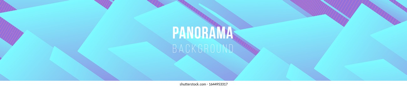Fluid bright colored panorama. Abstract liquid shapes composition. 3D effect with blend gradient. Colors name: Mindaro, Electric blue, Medium purple, Tulip. Eps10 vector illustration.