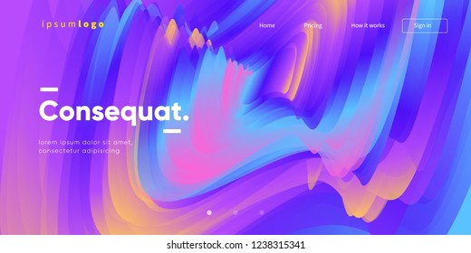 Fluid color trendy background. Creative shapes composition. Eps10 vector.
