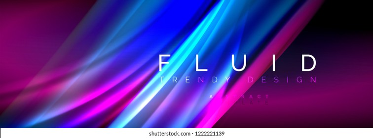 Fluid color wave line background. Trendy abstract layout template for business or technology presentation, internet poster or web brochure cover, wallpaper. Vector illustration