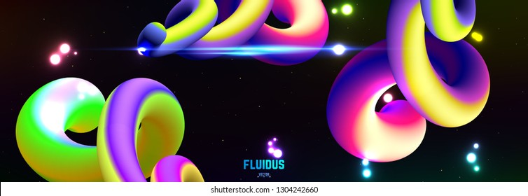 Fluid colorful gradient background. Modern abstract art.