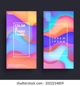Fluid colorful shapes composition. Trendy banners templates. Eps10 vector.