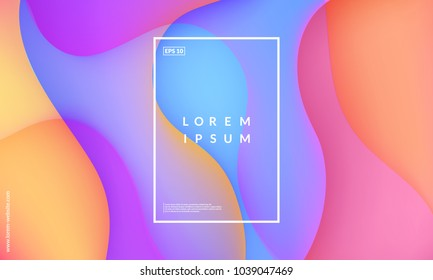Fluid colorful shapes multiply. Trendy gradients composition. Eps10 vector.