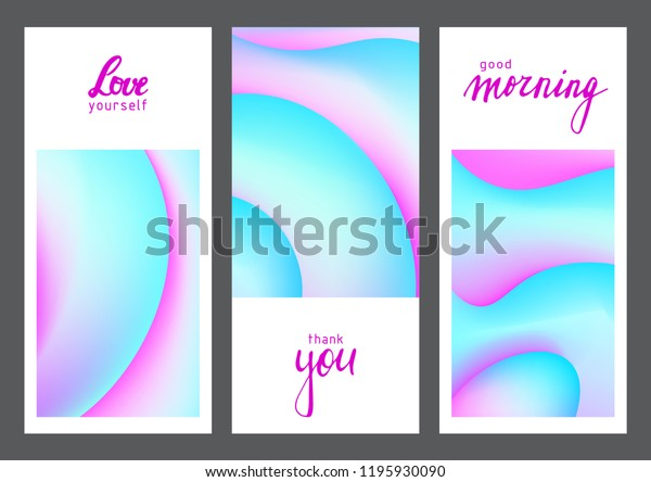 Fluid Colors Universal Cards Set Fluid Stock Vector (Royalty Free