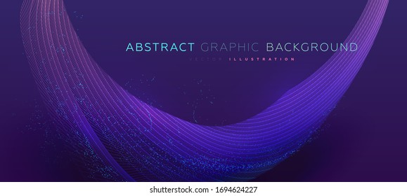 Fluid geometric shape background for abstract concept design. Eps10 vector illustration