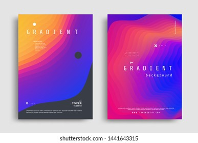 Fluid Gradient modern poster design template. Abstract fluid flyer with colorful liquid shapes. Vector graphic illustration