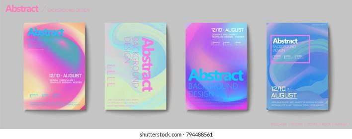 Fluid liquid style brochure, pastel color mix background flyer design
