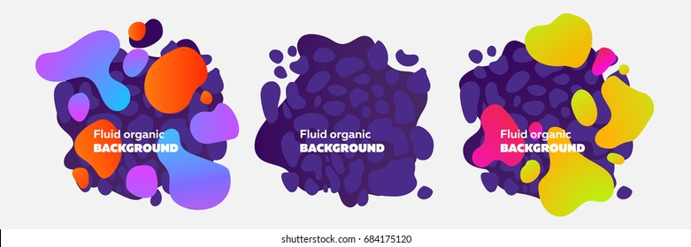 Fluid organic colorful shapes. Abstract background
