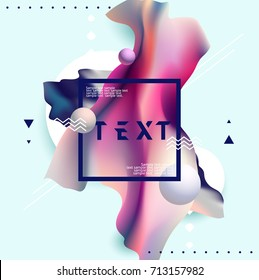 Fluid poster design with place for text