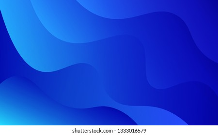 Fluid shapes composition. Design with color of curves. Background for Wallpaper, Web Design, Brochure, Visit Card. Vector wave pattern for backgrounds. Gradient.
