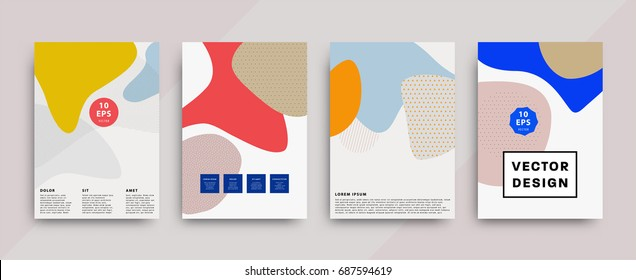 Fluid shapes covers | Geometric gradients trendy design