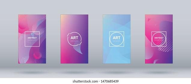 Fluid Shapes. Horizontal Orientation. Banner Design Composition. Modern Geometric Pattern. Fluid Shapes.